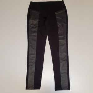 Worthington Ankle stretch pant with faux leather